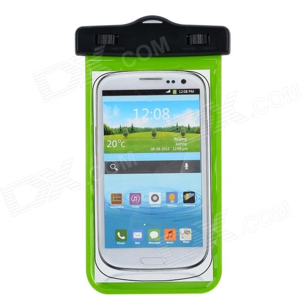 IPX8 Universal Waterproof Bag Protective Mobile Phone Bag w/ Arm Band / Strap - Green + Black universal waterproof bag protective mobile phone bag w arm band strap orange black
