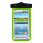 IPX8 Universal Waterproof Bag Protective Mobile Phone Bag w/ Arm Band / Strap - Green + Black