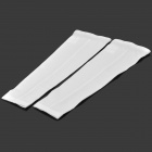 TOPCYCLING Recycling Anti UV Sport Arm Elbow Support Oversleeve Arm Warmer - White (Size XXL / Pair)