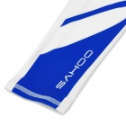 SAHOO 45545 Outdoor Cycling Polyester Arm Sleeves - White + Blue (XL / Pair)