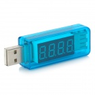 "Litong 037 0.4"" LCD 4-Digit Red Display USB Power Charger Voltage Current Tester (3~8V / 0~3A)"