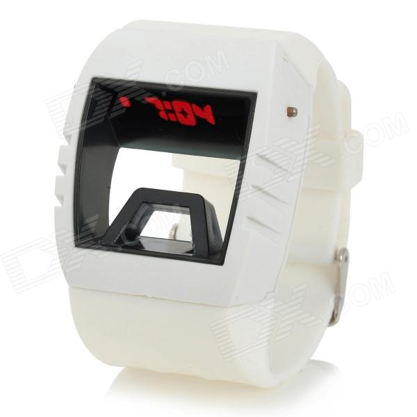 Fashion Creative Hollow Out Frame Style Digital LED Wrist Watch - White (2 x LR41, Included)