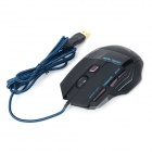 WOYE T8 USB 2.0 Wired 2000dpi optisk LED Gaming Mouse - Svart + Light Blue