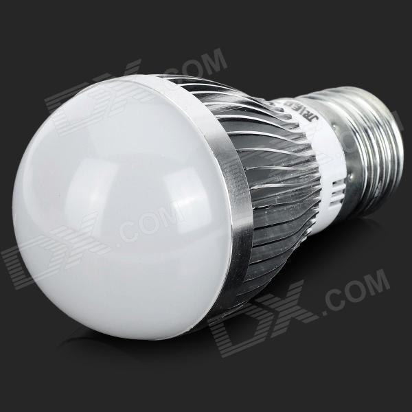 JRLED E27 5W 370lm 3300K 10-5630 SMD LED Warm White Light Bulb - White + Silver (AC 85~265V)E27<br>ColorWhite + SilverColor BINWarm WhiteBrandJRLEDMaterialAluminum alloy + plasticQuantity1 PiecePower5WRated VoltageAC 85-265 VConnector TypeE27Chip BrandHugaEmitter TypeOthers,5630 SMDTotal Emitters10Theoretical Lumens450 lumensActual Lumens270~370 lumensColor TemperatureOthers,3000~3300KDimmablenoBeam Angle180 °Packing List1 x Bulb<br>