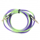 3.5mm Male to Male Audio Cable - Green + Purple (120cm)