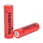 FANDYFIRE 3.7V 1500mAh 18650 Li-ion Battery - Red (2 PCS)