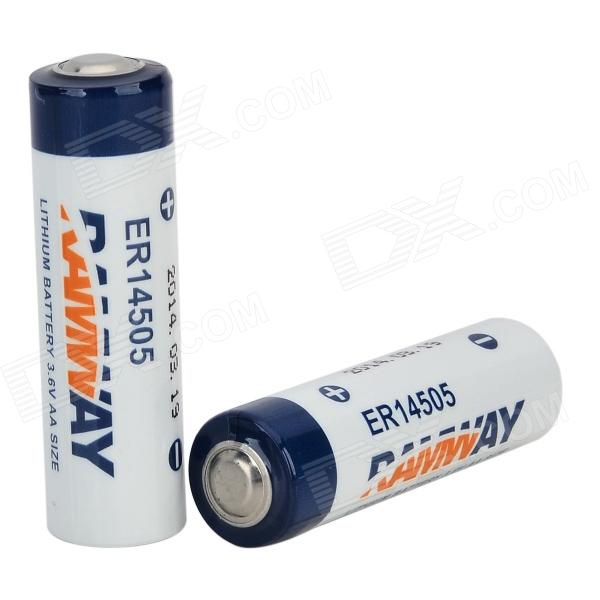 ER14505 3.6V Lithium Battery - White + Blue + Multi-Colored (2 PCS) hongyang cr123a disposable lithium manganese dioxide aa battery white blue 2 pcs