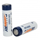 ER14505 3.6V Lithium Battery - White + Blue + Multi-Colored (2 PCS)