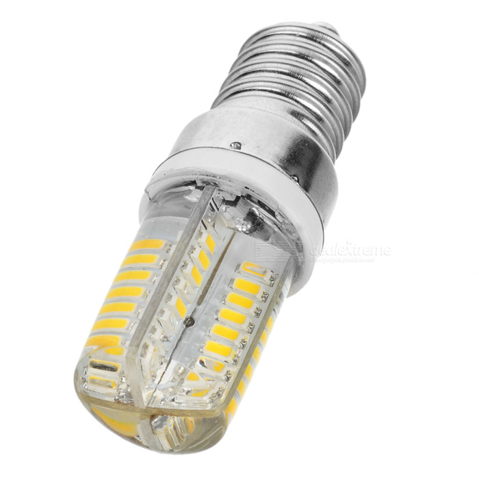 E14 3W 350lm 3200K 64-3014 SMD LED Warm White Lamp - Silver (AC 220~240V)