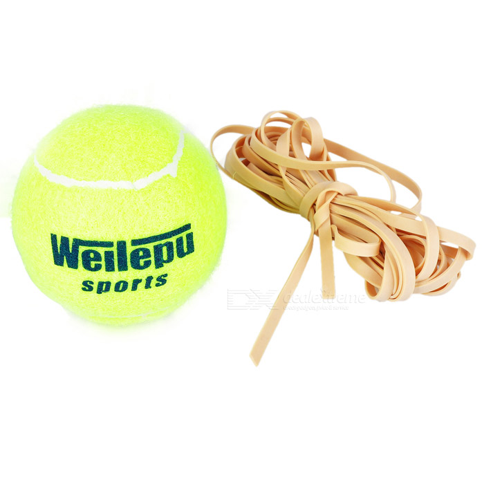 Tennis Sports Trainer Training Ball w/ Rubber Rope