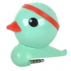 Universal 3.5mm Jack Cute Mini Duck Style Speaker - Green