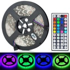JRLED 60W 4500lm 300-5050 SMD LED RGB Light Strip w/ Remote Control - Transparent (5m / AC 100~240V)
