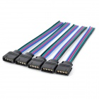 LSON 4-Pin hunn-kontakt kabel for 5050/3528 RGB stripe (5pcs)