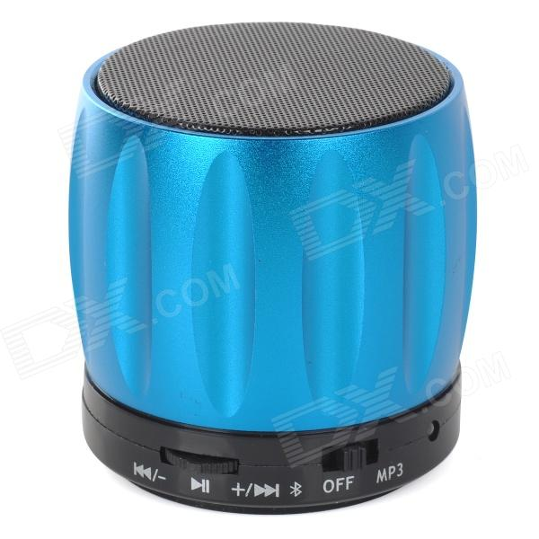 S13 Portable 3W Bluetooth V2.0 / V2.1 Speaker w/ Mic / TF / Mini USB - Blue + Black sdh 100 mini portable bluetooth v3 0 stereo speaker w mic tf slot blue black white