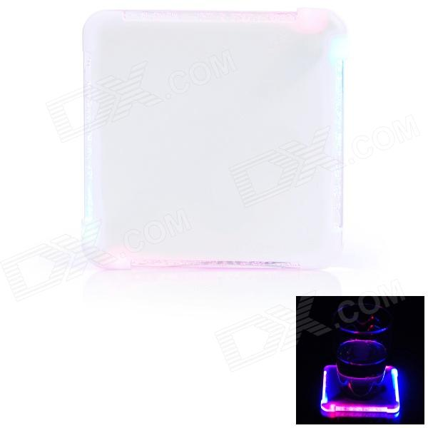 WXB128 4-LED Red / Blue Light Cup Pad - White