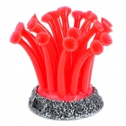 212 Realistic Silicone + Resin Soft Coral for Fish Tank / Aquarium - Red + Black