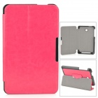 Protective PU Leather Case w/ Stand / Magnetic Closure for ASUS ME175 - Deep Pink