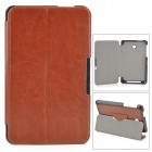 Protective PU Leather Case w/ Stand / Magnetic Closure for ASUS ME175 - Coffee