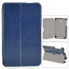 Protective PU Leather Case w/ Stand / Magnetic Closure for ASUS ME175 - Deep Blue