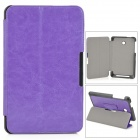 Stylish Protective PU Leather Case w/ Stand / Magnetic Closure for ASUS ME175 - Purple