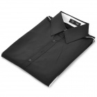 Men's Stylish Custom Fitting Cotton Blended Shirt - Black (XL)