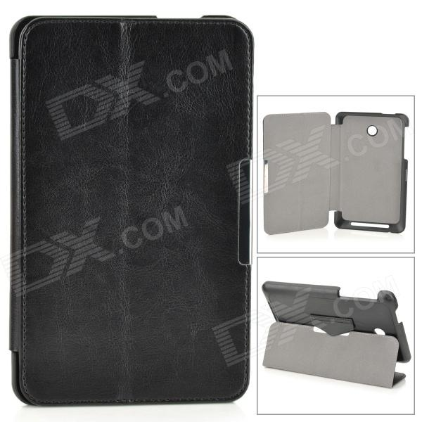 Protective PU Leather Case w/ Stand / Magnetic Closure for ASUS ME175 - Black кисть revell 1