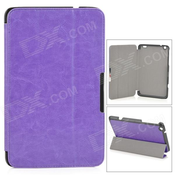 Protective Flip-open PU Leather Case w/ Stand for LENOVO MIIX2 8 - Purple protective flip open pu case w stand card slots for samsung galaxy s4 active i9295 black
