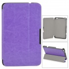 Protective Flip-open PU Leather Case w/ Stand for LENOVO MIIX2 8 - Purple