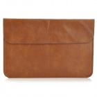"S-What Protective PU Leather Pouch Bag Case for MacBook Air 11.6"" - Coffee"