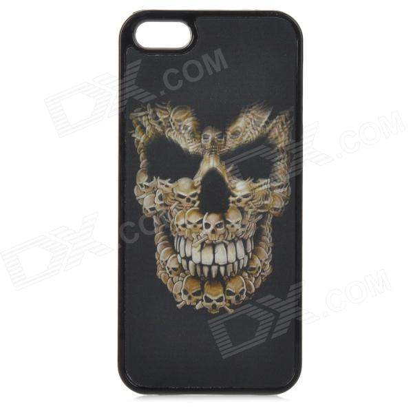 3D Skull Pattern Protective PC Back Case for IPHONE 5 / 5S - Black