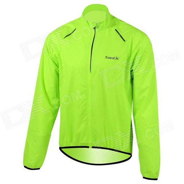 Santic MC07004V Outdoor Cycling Windproof Sunproof Jacket for Men - Fluorescent Green (Size XXL) сумка мужская malgrado цвет черный br09 271