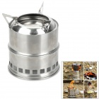 Outdoor Camping Stainless Steel Stove - Silver