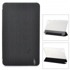Protective PU Case w/ Stand for Samsung Galaxy Tab Pro T320 - Black + Translucent White