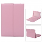 Micro USB Bluetooth V3.0 76-Key Keyboard w/ PU Case for Samsung P1000 / Galaxy Tab 10.1 - Pink