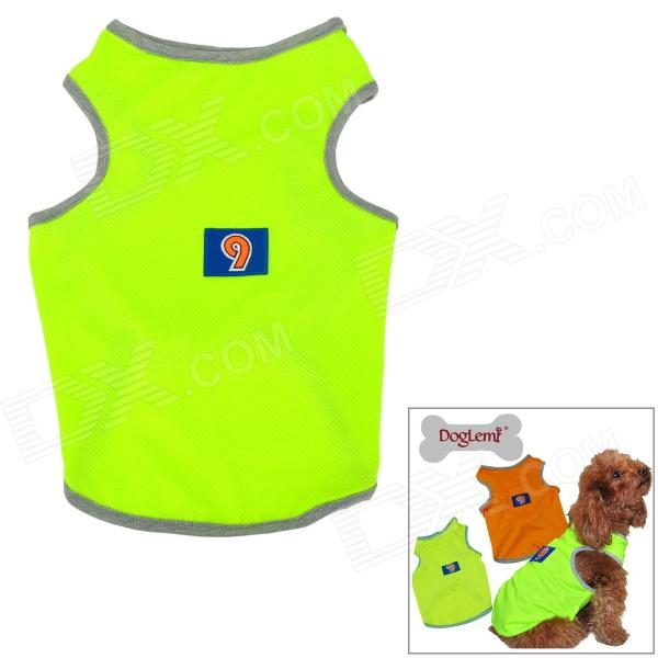 Doglemi DM300 Breathable Fluorescent Mesh Dog Vest for Teddy / Poodle - Fluorescent Yellow (Size XL)