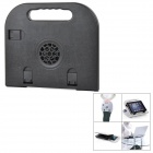 LS02 Multifunction Adjustable Fold-up Holder / Cooling Pad for Tablets / Laptops - Black