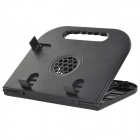 LS02 multifunción ajustable Fold-up Pad Holder / Refrigeración para Tabletas / Laptops - Negro