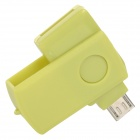 Y2210714 Mini bärbara Micro USB TF / Micro SD-kortläsare - Green (4GB)