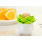 Creative Lotus Shaped Toothpick Holder - Green
