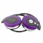 BH-58 Stylish Universal Sports Folding Stereo Bluetooth Headset w/ HF Call Microphone - Purple