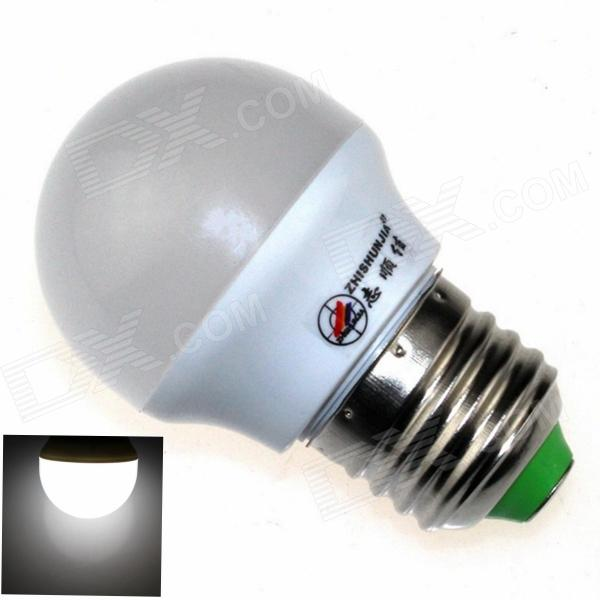 ZHISHUNJIA E27 3W 220lm 6000K 6 x SMD 5630 LED White Light Lamp Bulb - White (AC 85~265V)
