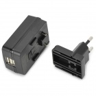 Huntkey D202 Dual USB Charger Adapter for Phone / Tablet / MP4 / Camera + Black (EU Plug / 100~240V)