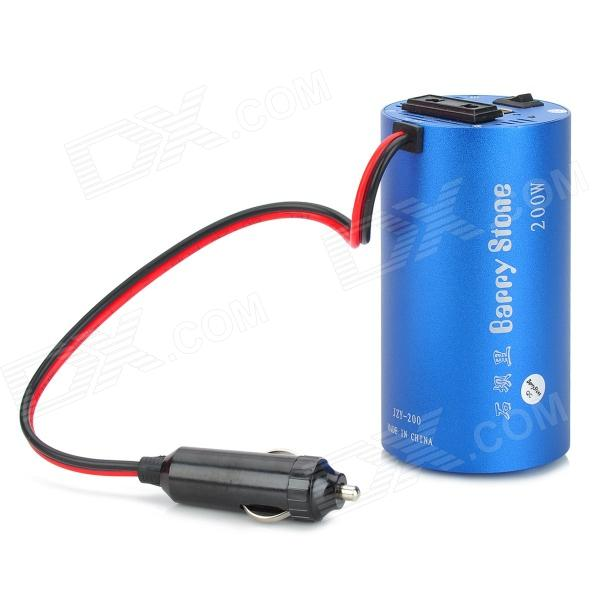 200W DC 12V to AC 110~220V Car Power Inverter w/ 5V 0.5A Output - Blue (27cm)