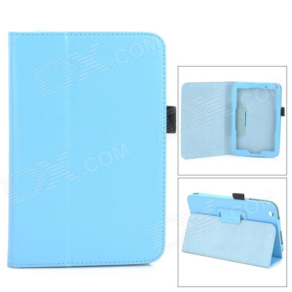 Lichee Pattern Protective PU Leather Full Body Case w/ Stand for Toshiba WT8 - Light Blue Yonkers Прокупка по объявлению