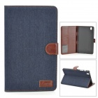 Protective PU Leather Full Body Case for Samsung Galaxy Tab Pro 8.4 T320 - Black Blue + Brown
