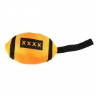 Pet's Dog Cat Toy Rugby - Orange + Black