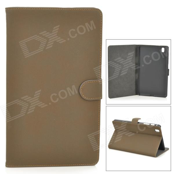 Protective PU Leather Full Body Case for Samsung Galaxy Tab Pro 8.4 T320 - Brown + Black