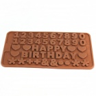 Happy Birthday Style Ice Lattice Ice Cubes Chocolate Mold - Coffee