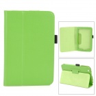 Lichee Pattern Protective PU Leather Full Body Case w/ Stand for Toshiba WT8 - Green