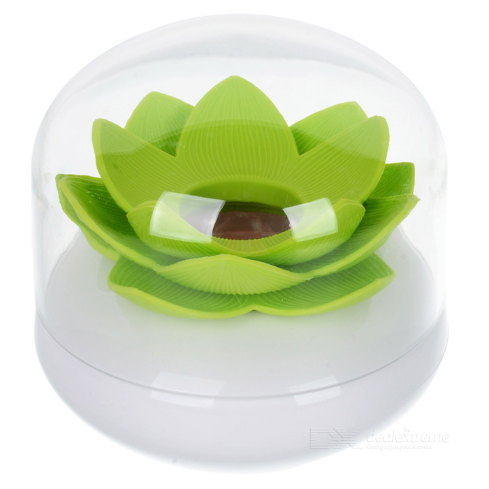 Creative Lotus Style Toothpicks Holder - White + Green creative wave style pp lid rack mount holder green
